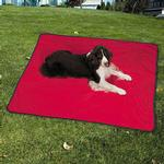 View Image 3 of Insect Shield Portable Pet Blanket - Red