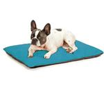 View Image 1 of Insect Shield Reversible Dog Bed - Teal and Slate