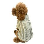View Image 1 of Irish Isle Hand-knit Mock Turtleneck Dog Sweater - Silver