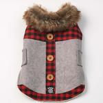 View Image 3 of Jackson Lodge Dog Coat - Gray