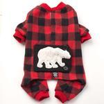 View Image 2 of Jackson Polar Bear Dog Pajamas - Red/Black