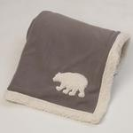 View Image 1 of Jackson Polar Bear Fleece Dog Blanket - Gray