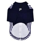 View Image 2 of Major Baseball Dog Jersey by Puppia - Navy