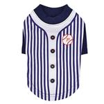 View Image 1 of Major Baseball Dog Jersey by Puppia - Navy