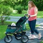 View Image 4 of Jogger No-Zip Pet Stroller - Forest Green