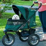 View Image 3 of Jogger No-Zip Pet Stroller - Forest Green