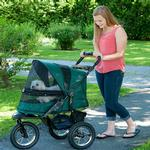 View Image 2 of Jogger No-Zip Pet Stroller - Forest Green