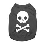 View Image 1 of Skull and Bones Dog Shirt - Black