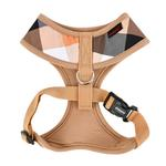 View Image 2 of Quinn Plaid Dog Harness by Puppia - Beige