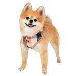 View Image 4 of Quinn Plaid Dog Harness by Puppia - Beige