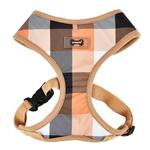 View Image 1 of Quinn Plaid Dog Harness by Puppia - Beige