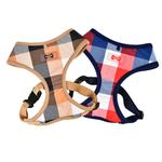 View Image 3 of Quinn Plaid Dog Harness by Puppia - Beige
