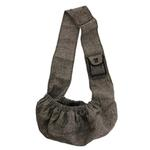 View Image 2 of Just Hangin' Messenger Style Sling Pet Carrier - Black & Cream Tweed