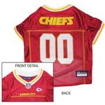View Image 1 of Kansas City Chiefs Officially Licensed Dog Jersey - Yellow and White Trim