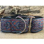 View Image 3 of Kashmir Wide Martingale Dog Collar by Diva Dog - Egyptian Sunset