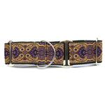 View Image 1 of Kashmir Wide Martingale Dog Collar by Diva Dog - Sultan Purple