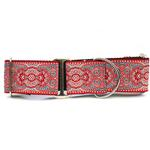 View Image 1 of Kashmir Wide Martingale Dog Collar by Diva Dog - Empress Red