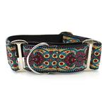 View Image 1 of Kashmir Wide Martingale Dog Collar by Diva Dog - Temple Red