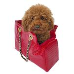 View Image 1 of Kate Dog Carrier by The Dog Squad - Red Croc