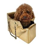View Image 1 of Kate Dog Carrier by The Dog Squad - Gold Croc