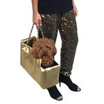 View Image 2 of Kate Dog Carrier by The Dog Squad - Gold Croc