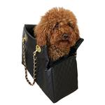 View Image 1 of Kate Quilted Dog Carrier by The Dog Squad - Black