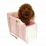 View Image 1 of Kate Quilted Dog Carrier by The Dog Squad - Pink