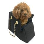 View Image 1 of Kate Quilted Dog Carrier by The Dog Squad - Denim