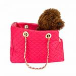 View Image 2 of Kate Quilted Dog Carrier by The Dog Squad - Watermelon