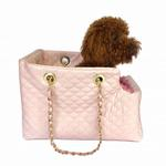 View Image 2 of Kate Quilted Dog Carrier by The Dog Squad - Pink