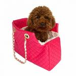 View Image 1 of Kate Quilted Dog Carrier by The Dog Squad - Watermelon