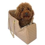 View Image 1 of Kate Quilted Dog Carrier by The Dog Squad - Tan