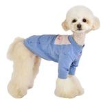 View Image 4 of Kelby Dog T-Shirt by Puppia - Melange Blue