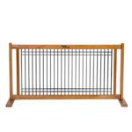 View Image 1 of Kensington Free Standing Wood/Wire 20 Slide Dog Gate - Artisan Bronze