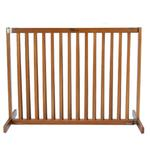 View Image 1 of Kensington Wood Free Standing 30 Slide Dog Gate - Artisan Bronze