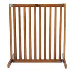 View Image 2 of Kensington Wood Free Standing 30 Slide Dog Gate - Artisan Bronze