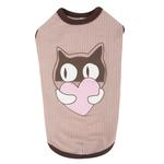 View Image 1 of Kissie Cat Shirt by Catspia - Brown