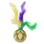 View Image 2 of Klawz Cat Toyz Feather Ball Toy by Happy Tails