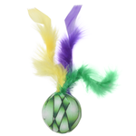 View Image 1 of Klawz Cat Toyz Feather Ball Toy by Happy Tails