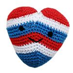 View Image 1 of Knit Knacks Hamilton the USA Heart Organic Dog Toy