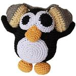 View Image 1 of Knit Knacks Hipster Penguin Organic Dog Toy
