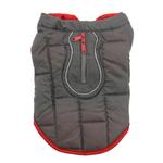 View Image 5 of Kurgo Loft Reversible Dog Jacket - Chili Red and Dark Charcoal