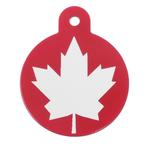 View Image 1 of Large Circle Engravable Pet I.D. Tag - Canadian Flag