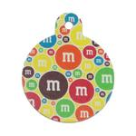View Image 1 of Large Circle Engravable Pet I.D. Tag - M&M's Multi