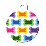 View Image 1 of Large Circle Engravable Pet I.D. Tag - Multiple Bones