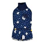 View Image 1 of Pixie Turtleneck Cat Dress by Catspia - Navy