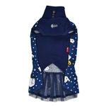 View Image 2 of Pixie Turtleneck Cat Dress by Catspia - Navy