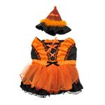 View Image 3 of LED Witch Dog Costume - Orange and Black