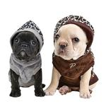 View Image 2 of Leonard Hooded Dog Shirt By Puppia - Brown