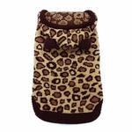 View Image 3 of Leopard Hooded Dog Sweater by Dogo